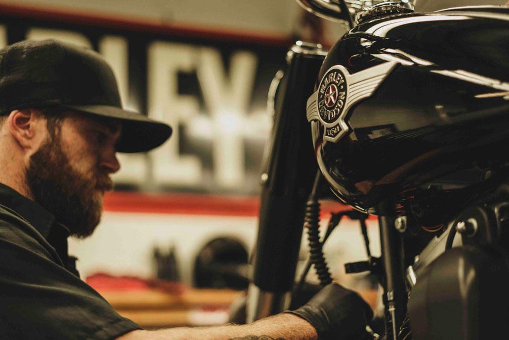 Las Harley-Davidson participantes en la Battle of the Kings II