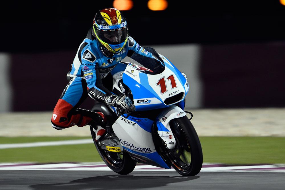 Livio Loi se estrena con el mejor tiempo del primer libre de Moto3