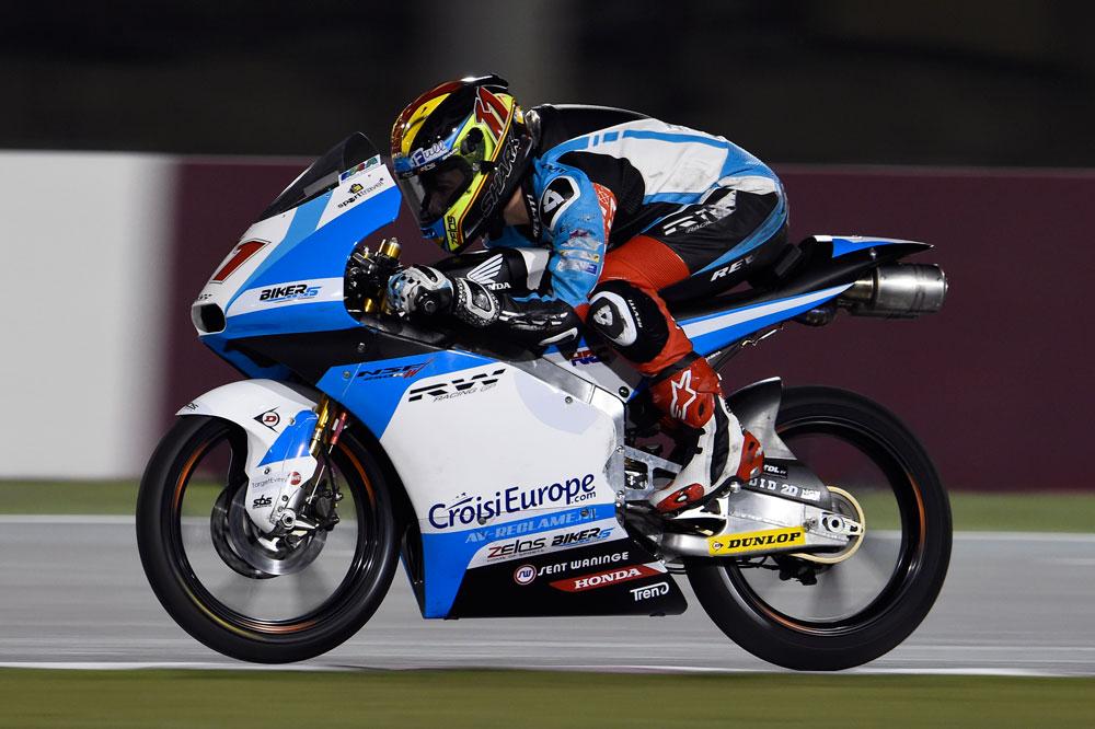 Livio Loi y su mejor jueves en Moto3