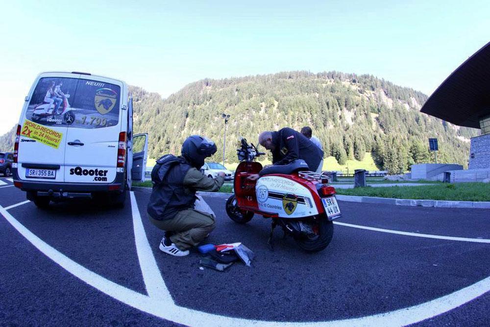 Récord: 1.691 km en 24 horas con un Scomadi