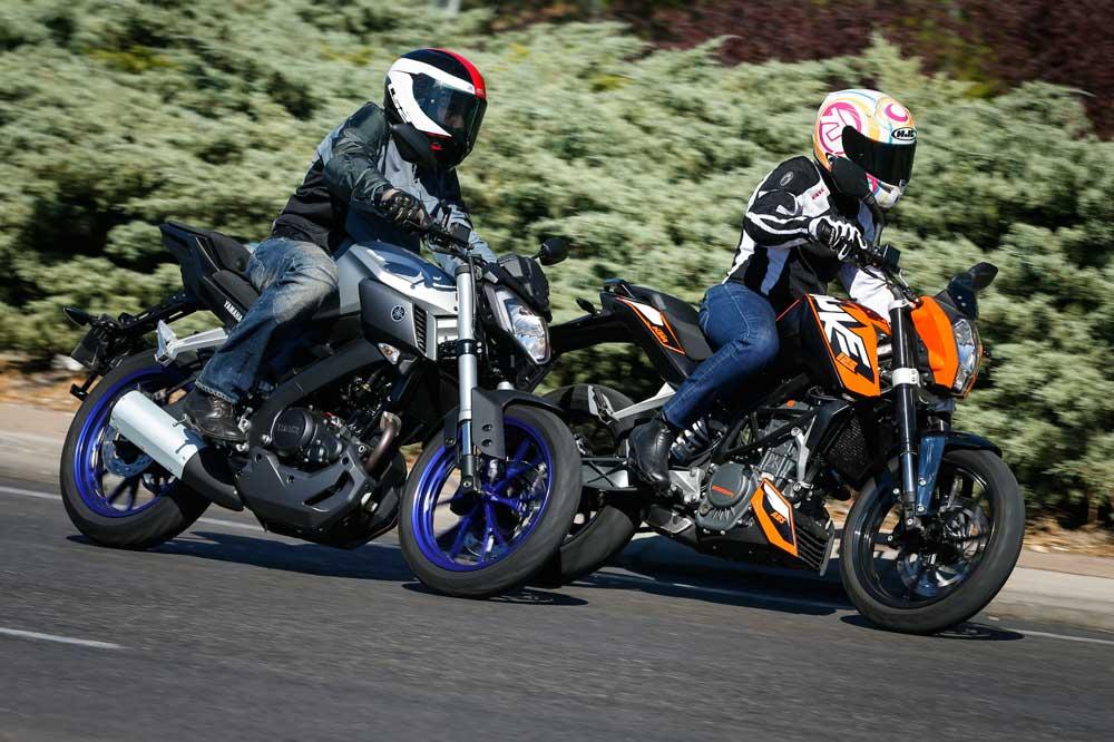 KTM 125 Duke y Yamaha MT-125, dos motos naked para los que empiezan