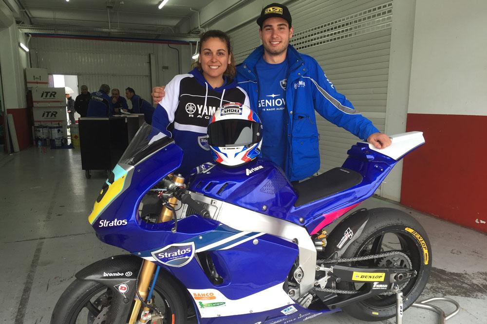 Michael Aquino disputará el FIM CEV de Moto2 con el Team Stratos