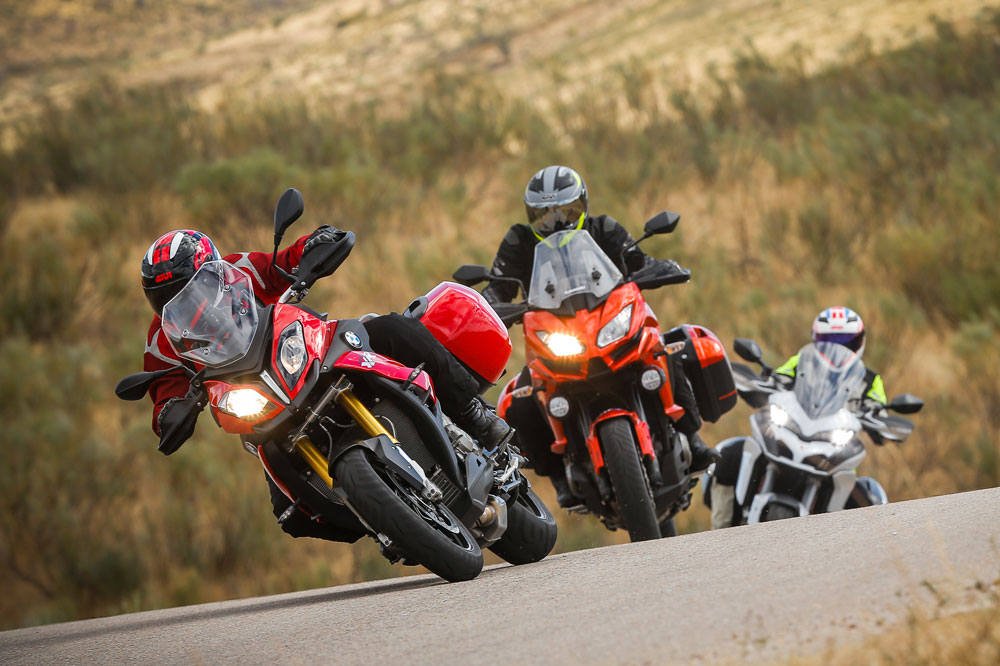 BMW S 1000 XR, Ducati Multistrada 1200 S y Kawasaki Versys 1000
