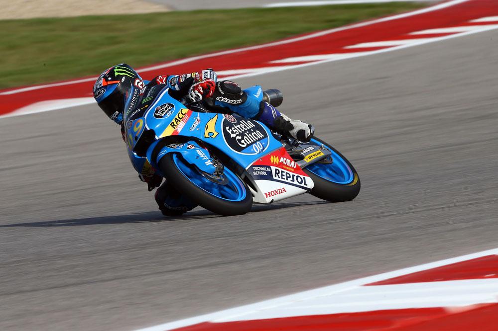 Jorge Navarro lidera la mañana de Moto3 en Austin