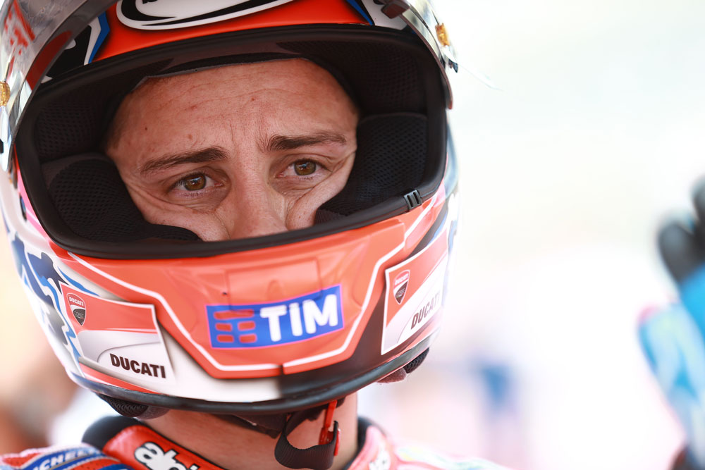 """Andrea Dovizioso: """"Perder dos podios de tres posibles es lo más difícil de aceptar"""""""