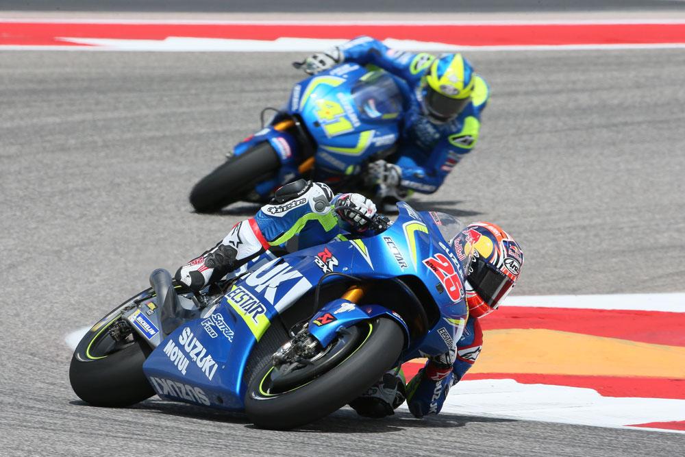 Los pilotos de Suzuki, satisfechos con el resultado en el GP de las Américas