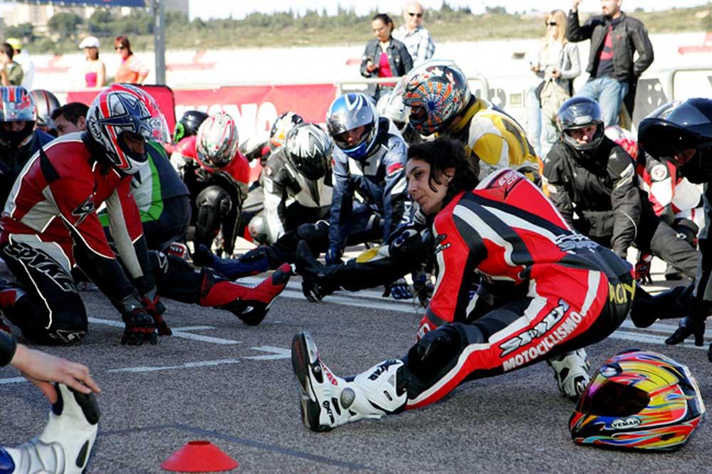 La preparación fisica en moto