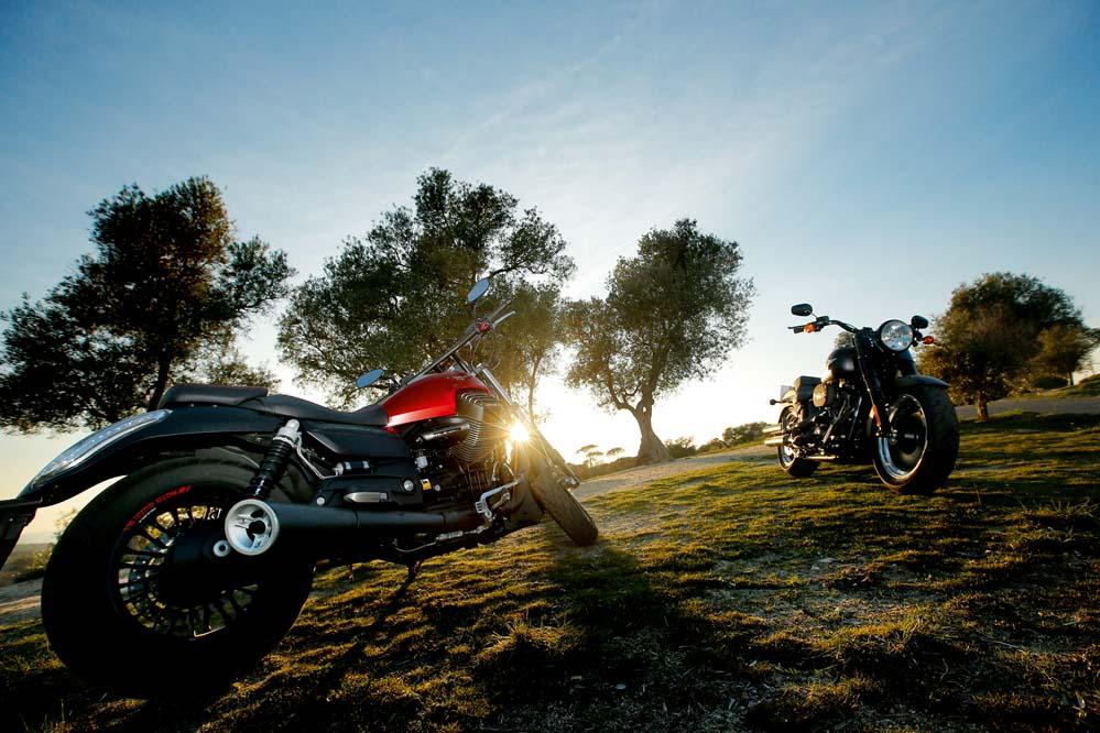 Harley-Davidson Fat Boy S y Moto Guzzi 1400 Audace