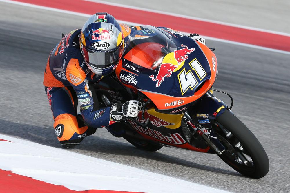 Brad Binder, el más rápido del día en Moto3