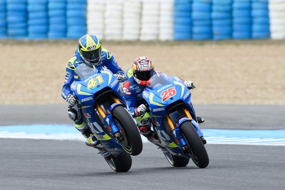 Los pilotos de Suzuki, quinto y sexto en Jerez