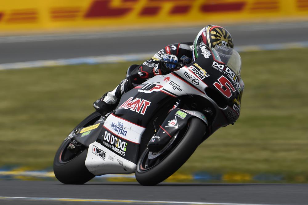 Johann Zarco domina los primeros libres de Moto2
