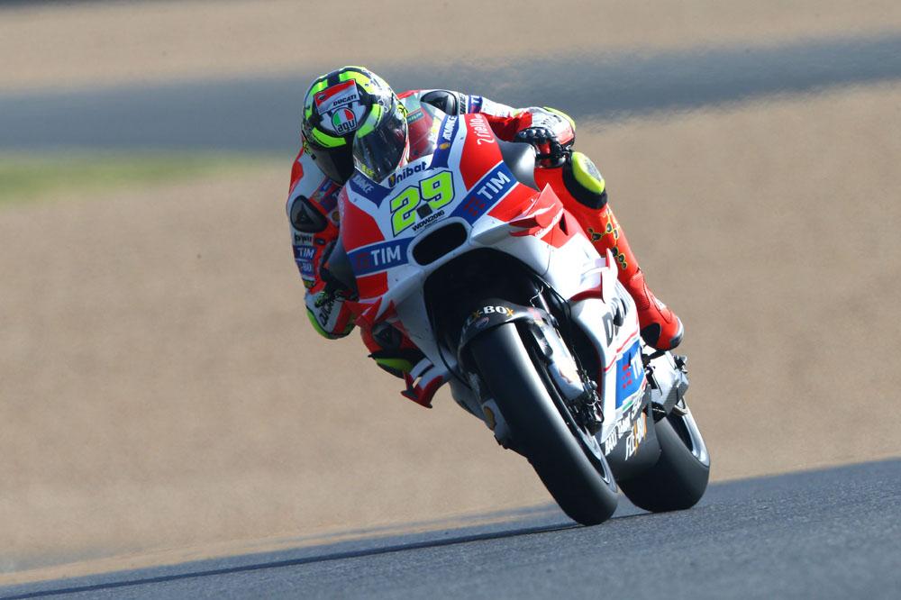 Ducati también lidera por la tarde