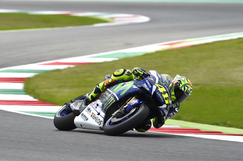 Valentino Rossi, pole en Mugello por delante de Maverick Viñales