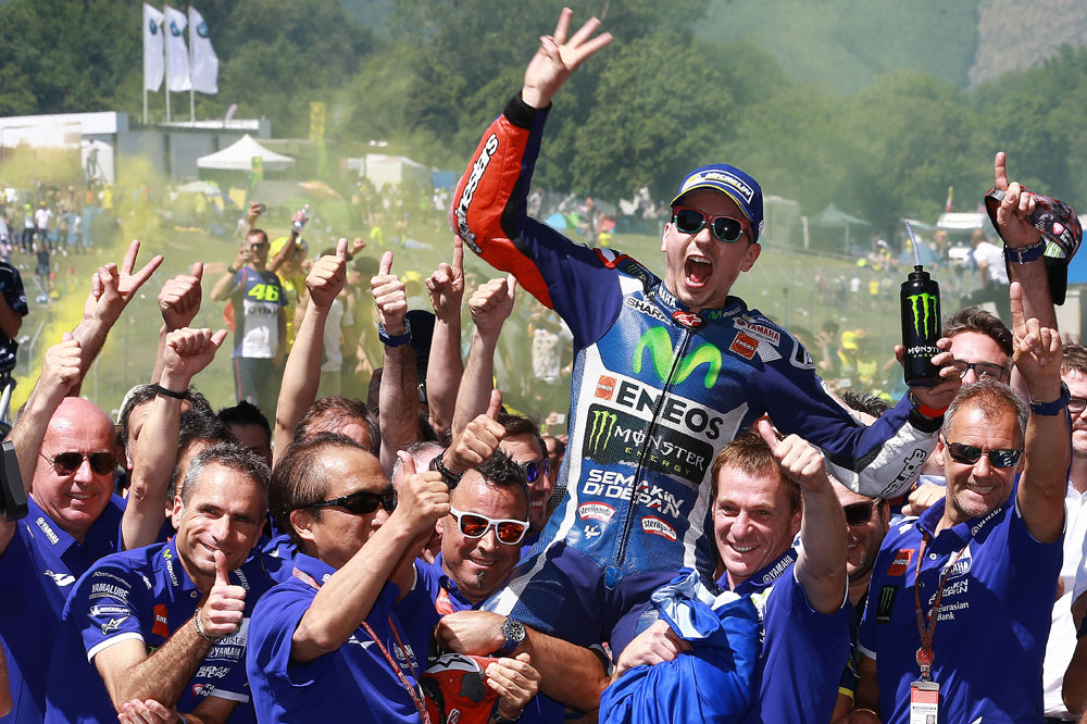 "Jorge Lorenzo: ""Hemos tenido suerte, si hubiéramos luchado con Rossi o Iannone no ganamos"""
