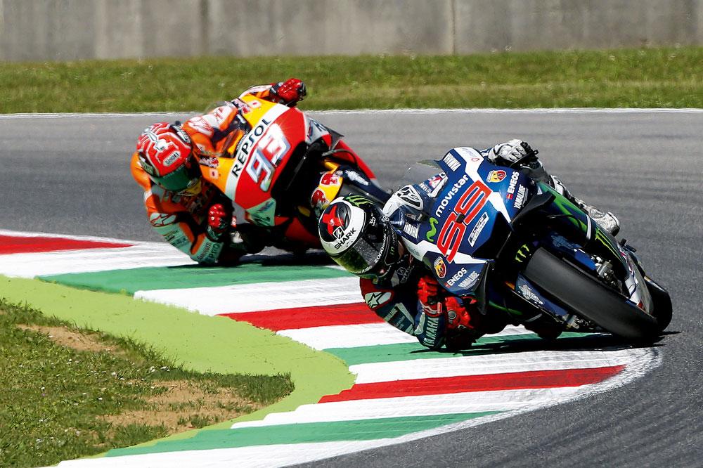 Lorenzo y Márquez, al límite en Italia