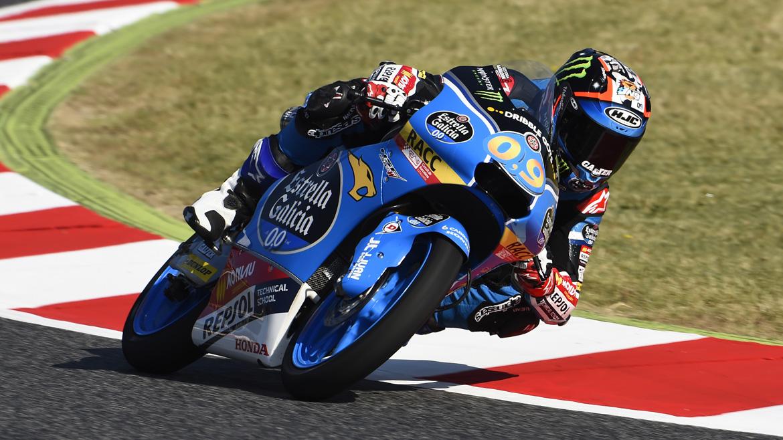 Jorge Navarro comanda los terceros libres de Moto3