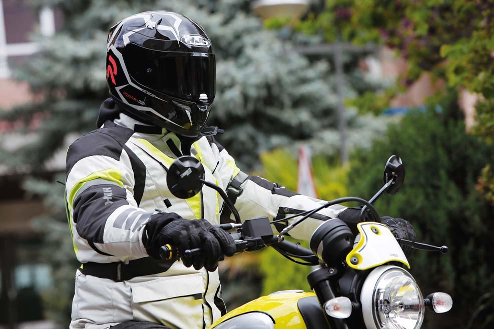Chaqueta de moto Hewik Tre Strati Grigia