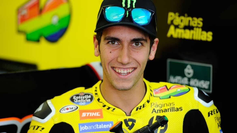 Alex Rins se convierte en repartidor en moto