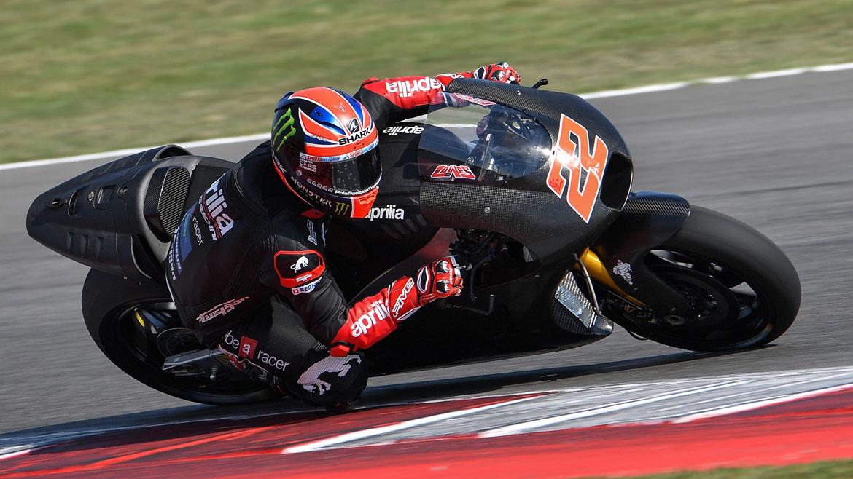 Sam Lowes prueba la Aprilia de MotoGP por primera vez