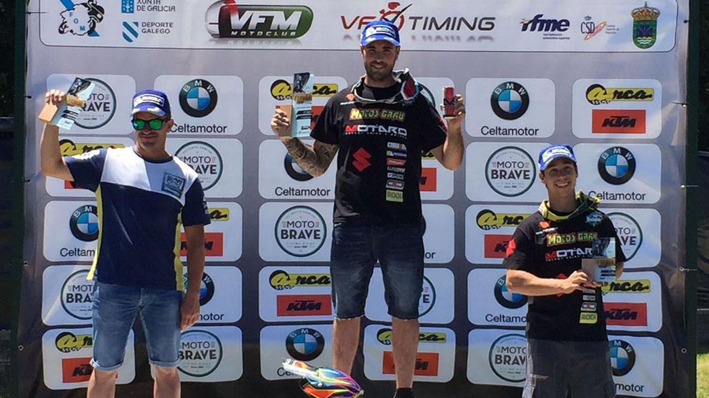 David Giménez se impone en la tercera prueba del Nacional de Supermoto