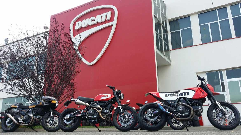 Ducati presenta tres nuevas preparaciones de la Ducati Scrambler