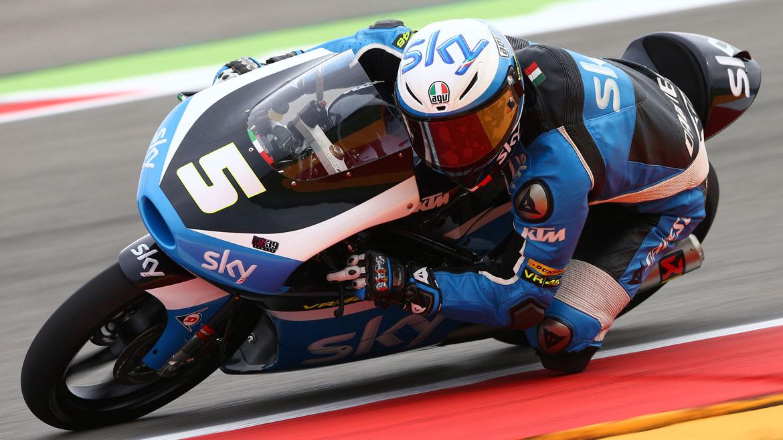 Romano Fenati lidera los primeros libres de Moto3 en Sachsenring
