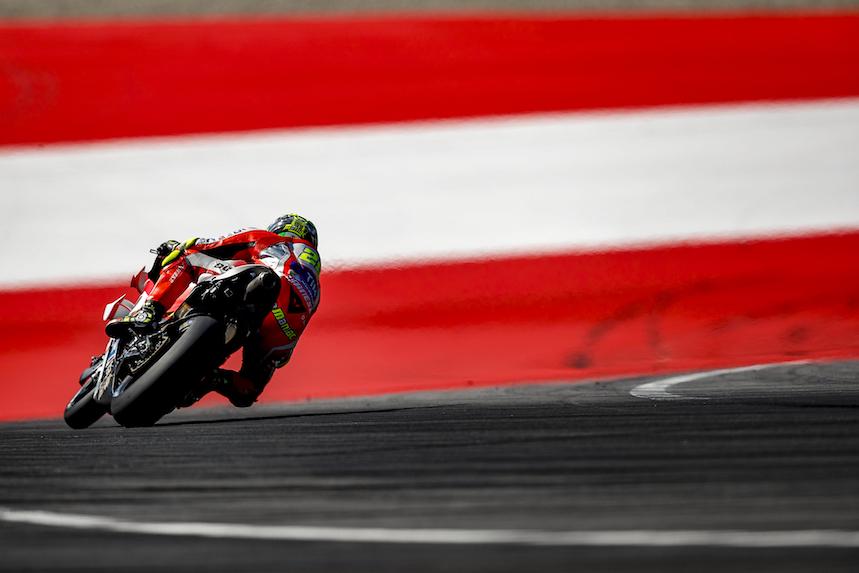 Ducati, con Andrea Iannone al frente, dominó los test de Austria