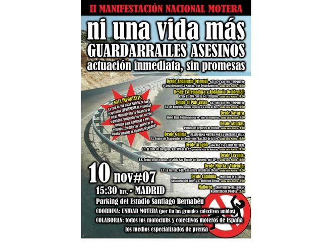 Manifestaciones de motoristas en Zaragoza