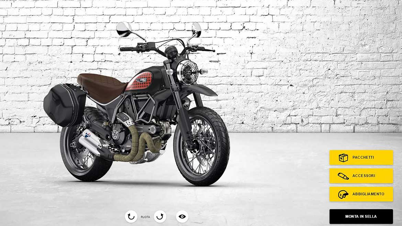 El nuevo configurador Ducati Scrambler ya está disponible