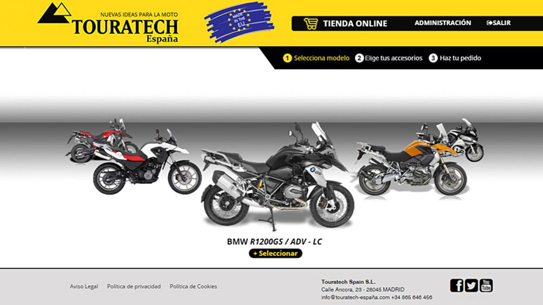 Touratech presenta su configurador de accesorios