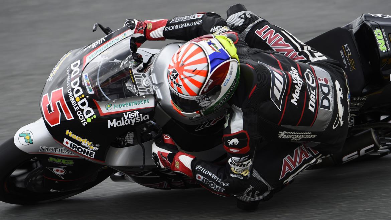Johann Zarco, mejor tiempo 'in extremis' en el FP1 de Moto2
