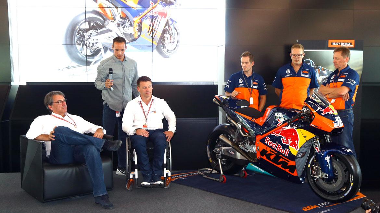 KTM presenta su MotoGP en Austria