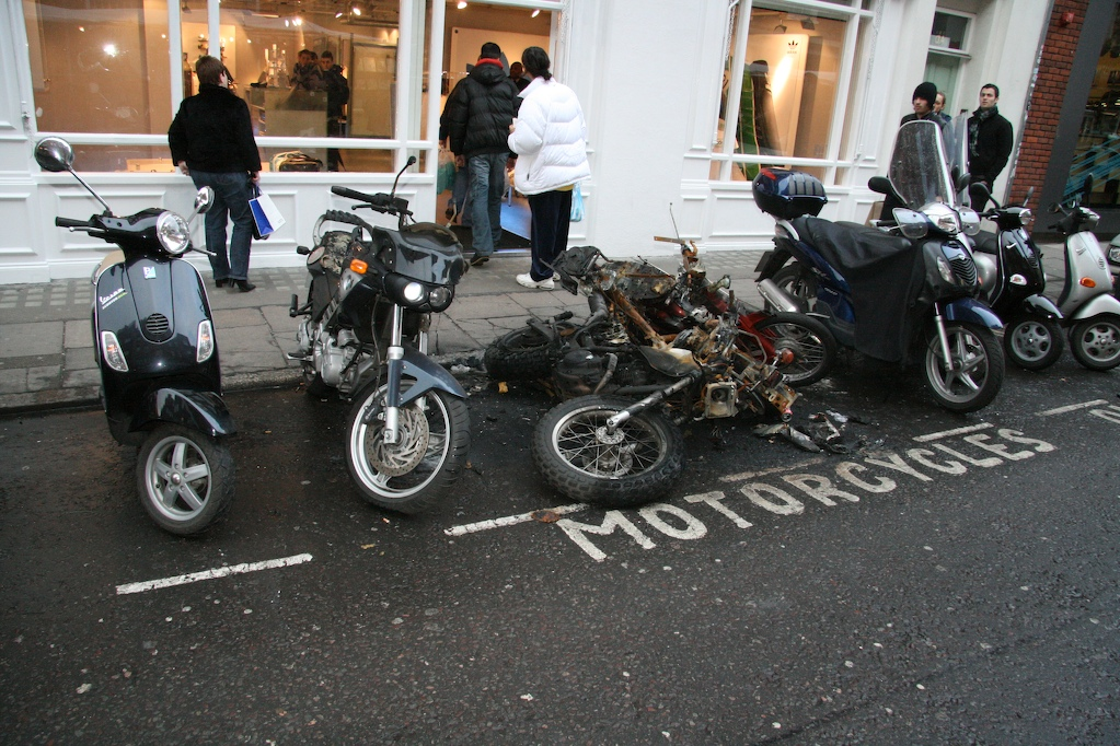 ¿Pirómanos de motos? En Guipúzcoa ya han quemado 44