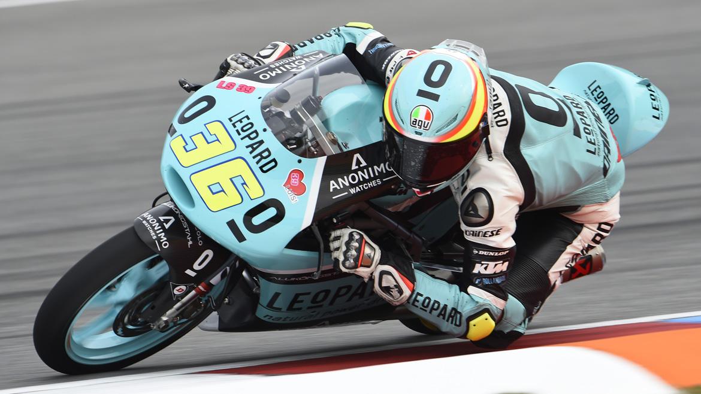 Joan Mir domina el último libre de Moto3