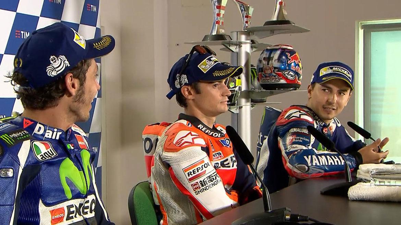Nuevo encontronazo entre Rossi y Lorenzo en rueda de prensa