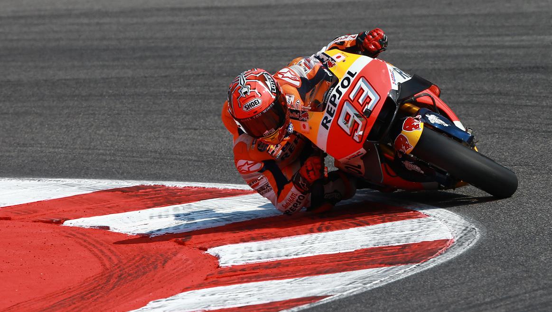 Marc Márquez lidera la FP1 en Aragón