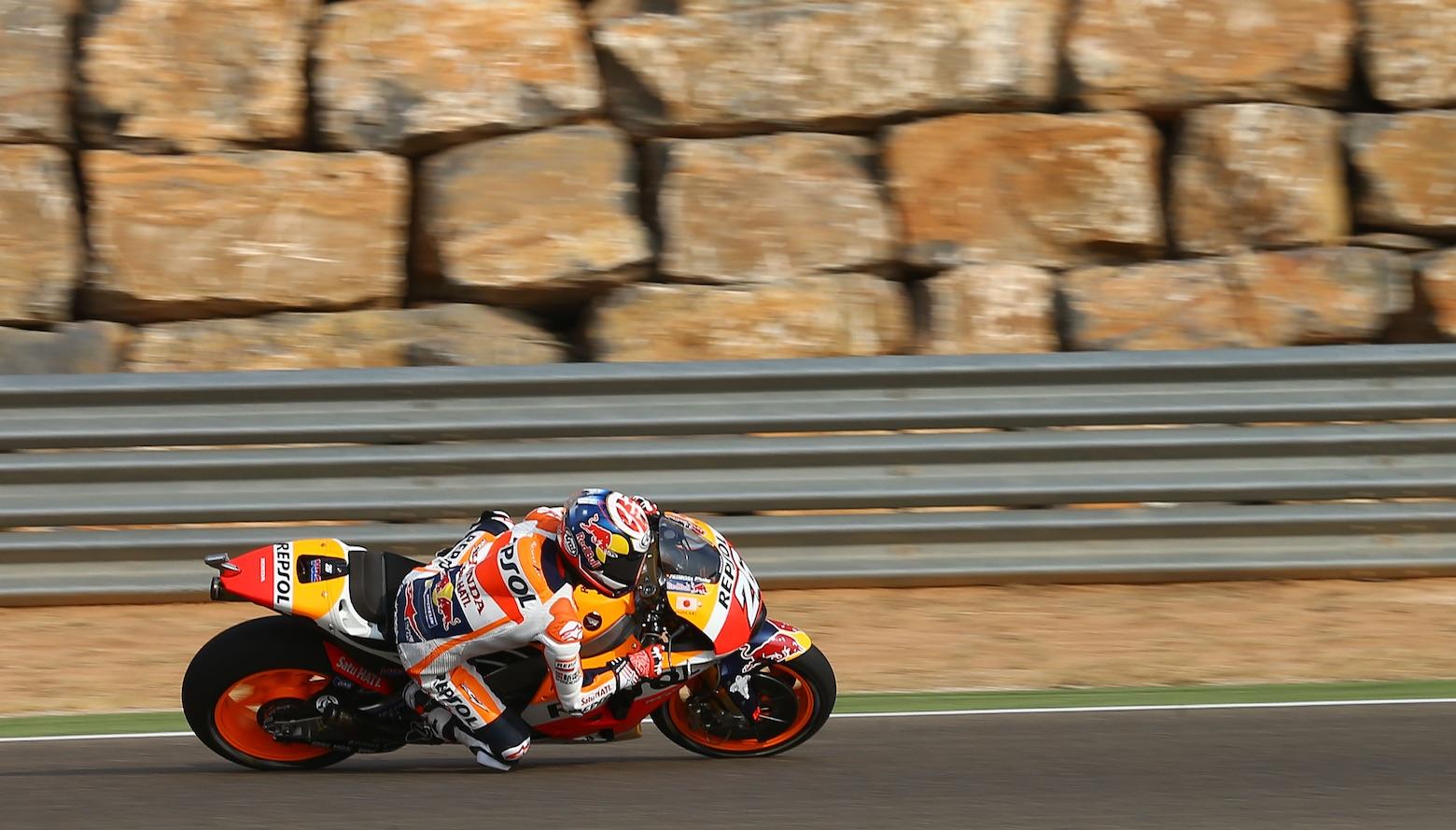 Dani Pedrosa lidera el tridente de Honda en Motorland