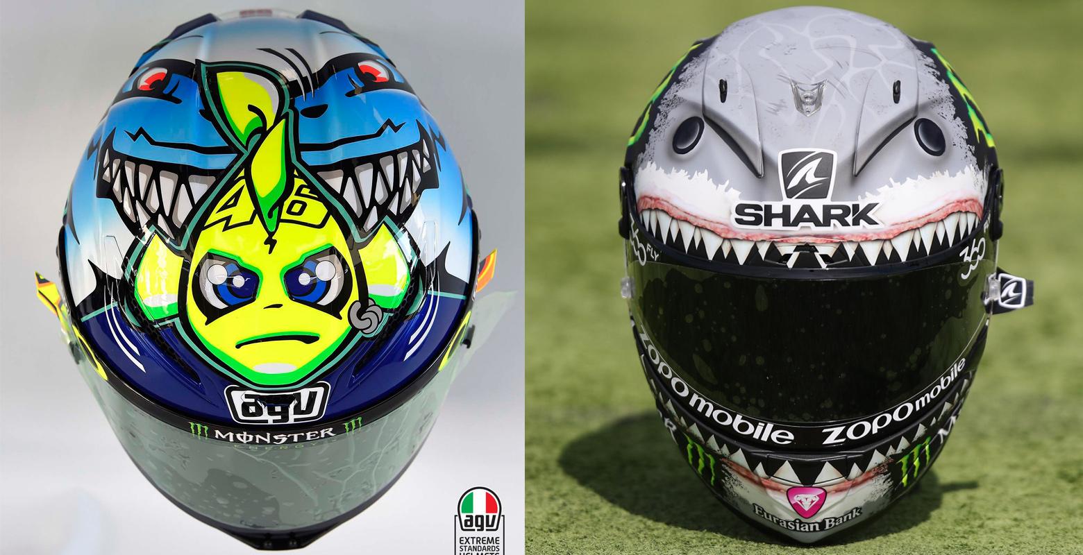 Nuevo casco de Jorge Lorenzo, ¿por qué un tiburón?