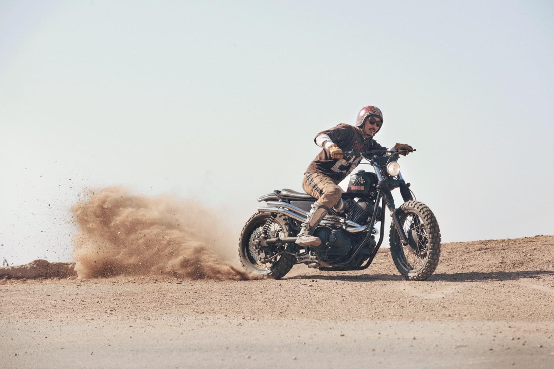 """Yamaha SCR 950 """"Chequered Scrambler"""", la primera preparación sobre la SCR"""