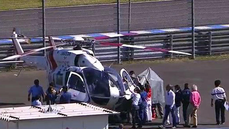 Jorge Lorenzo evacuado en helicóptero tras una fea caída