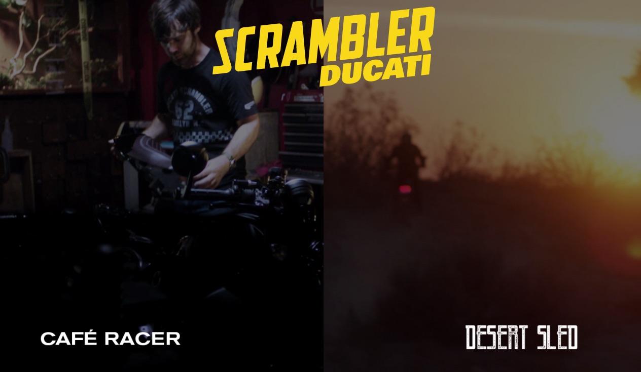 Ducati Scrambler Café Racer y Desert Sled, dos nuevas versiones para 2017