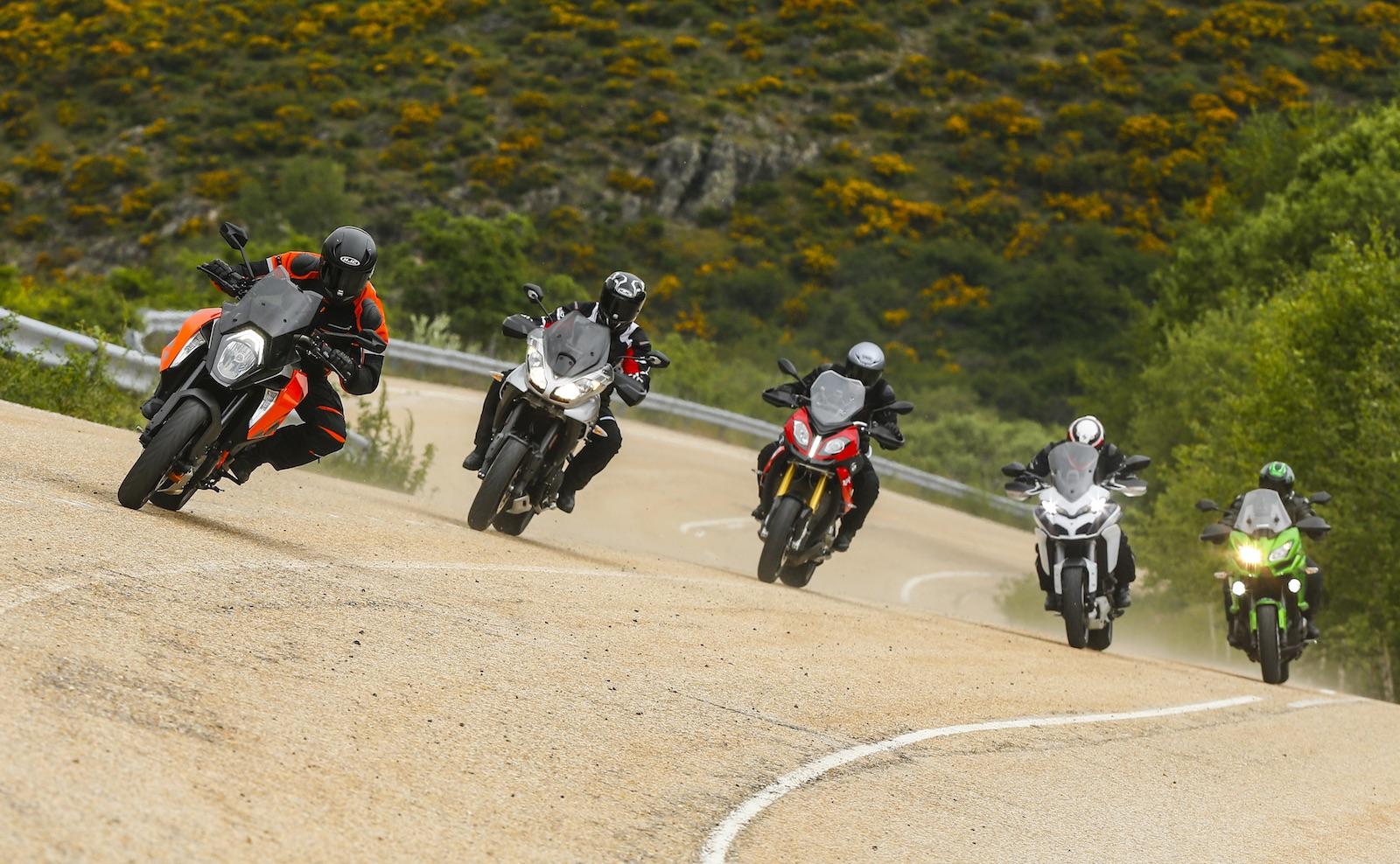 Comparativa Sport Turismo: BMW S 1000 XR, Ducati MTS 1200 S, Kawasaki Versys 1000, KTM 1290 Super Duke GT y Triumph Tiger Sport