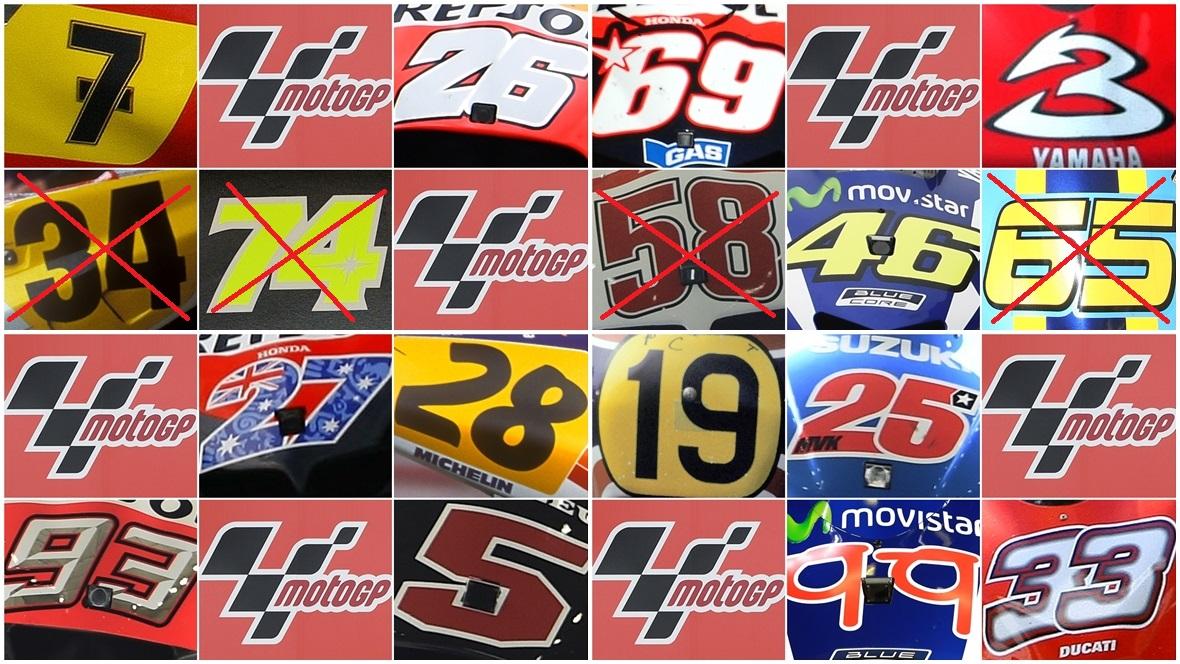 El Bingo de MotoGP, tachamos el 65 de Loris Capirossi y seguimos para línea