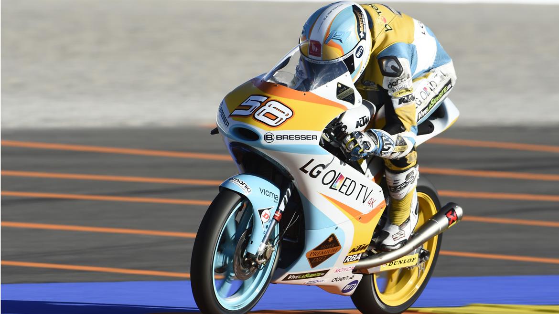 MotoGP Valencia 2016: Juanfran Guevara domina la mañana del sábado