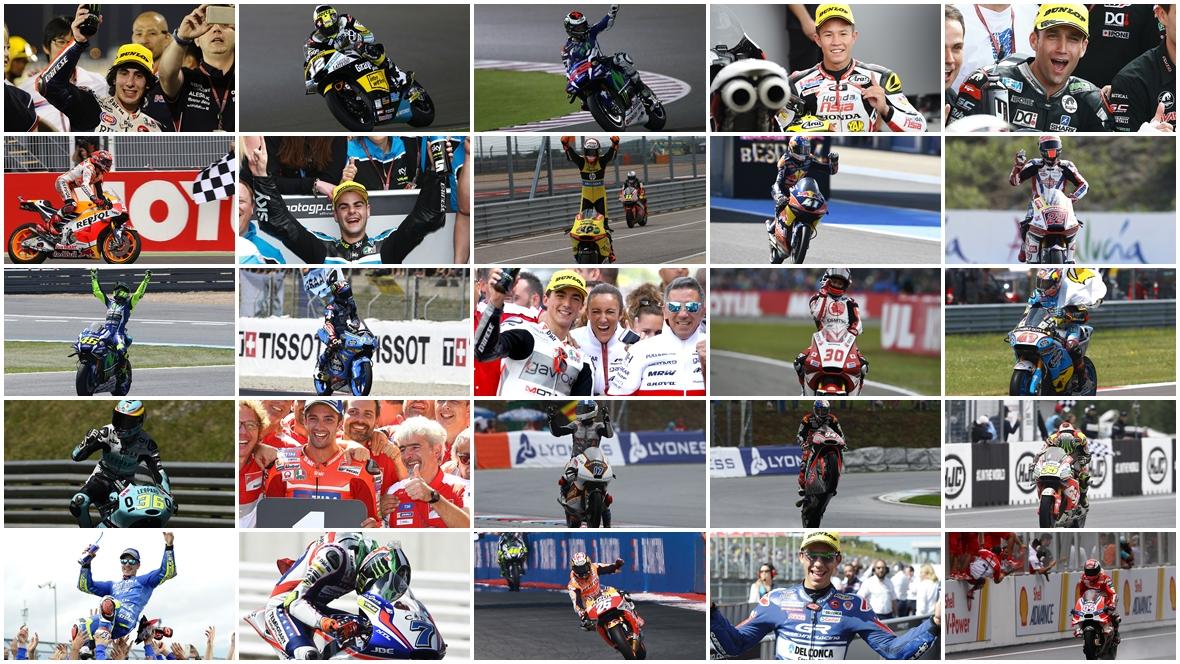 Los 25 ganadores de MotoGP 2016, récord histórico absoluto