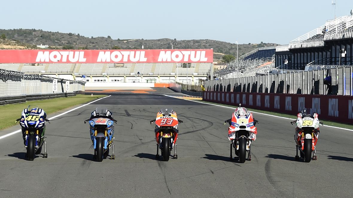Lista de 25 participantes en el test de MotoGP 2017 en Valencia