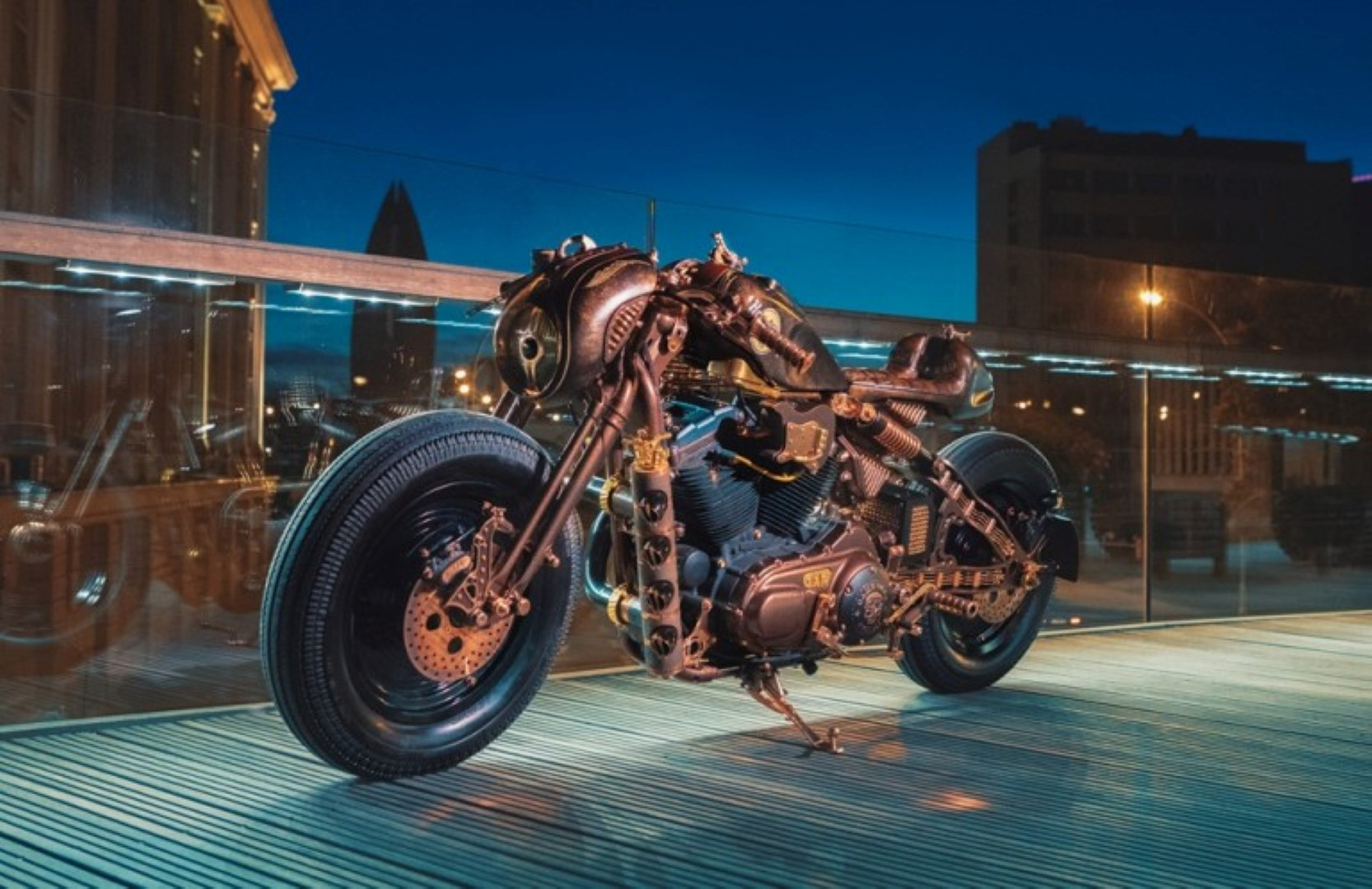 Una Harley Davidson hecha con mucho rock & roll