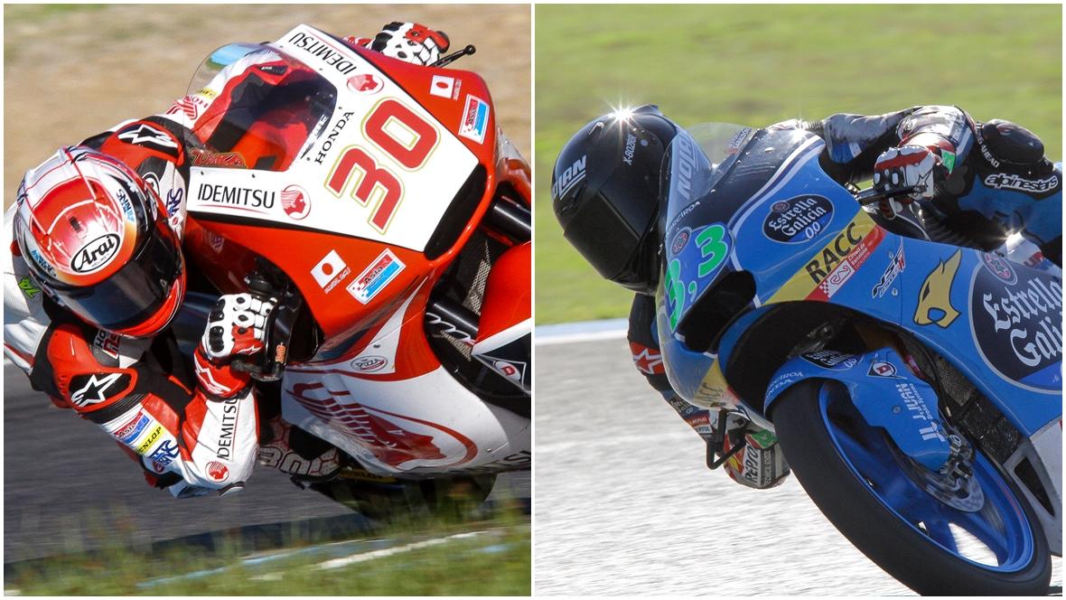 Takaaki Nakagami arrasa en los test de Moto2 y Enea Bastianini lidera Moto3