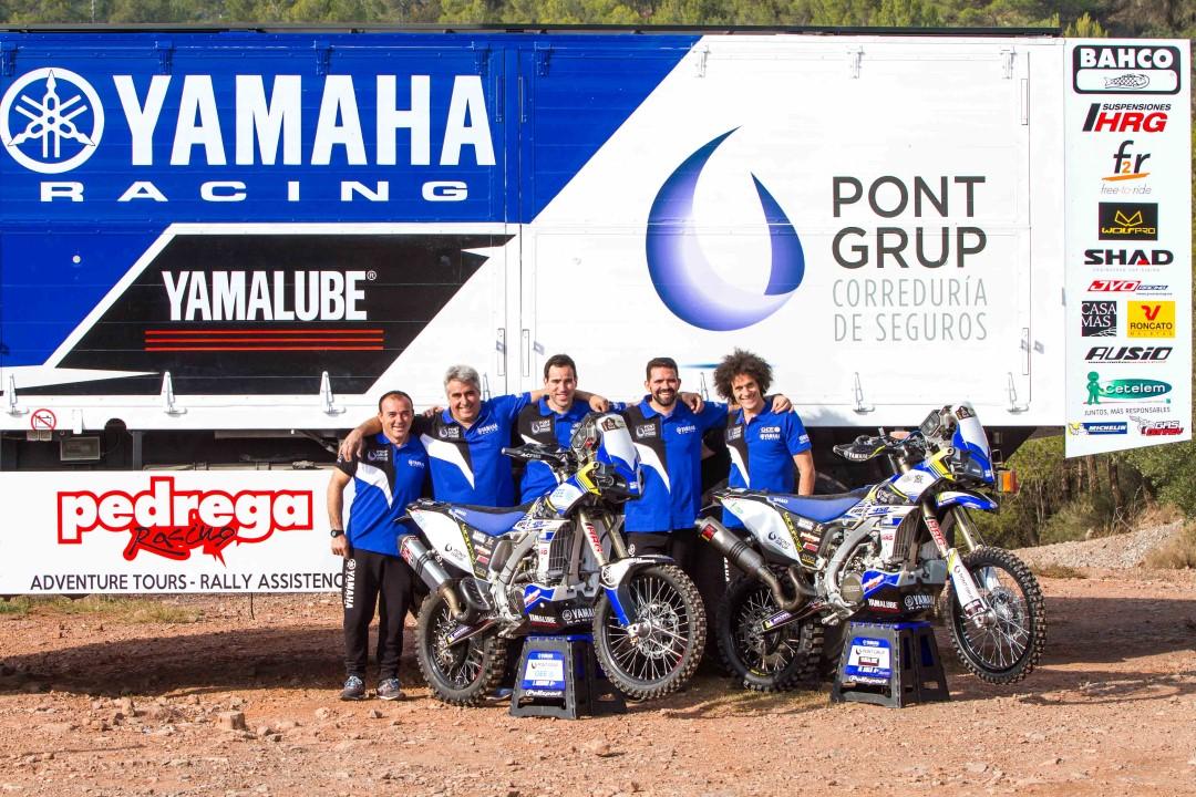 Presentación del equipo PontGrup Yamaha para el Dakar 2017