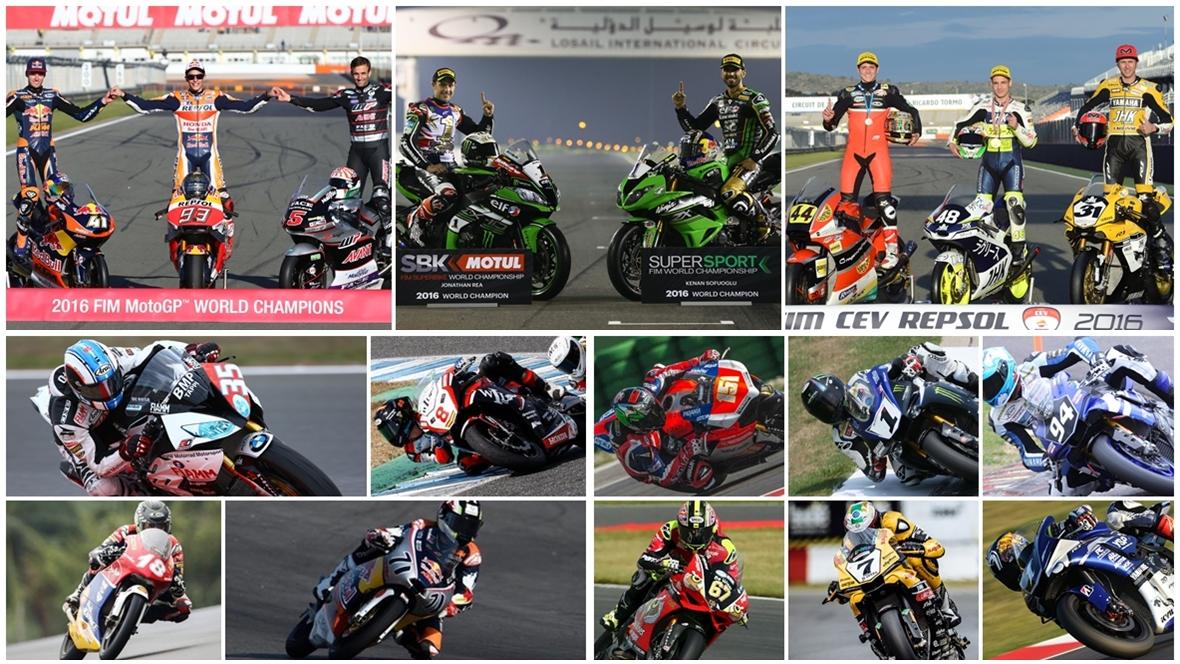Clasificaciones finales 2016 en todo el motociclismo de velocidad